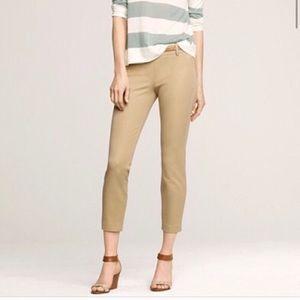 J Crew Minnie stretch ankle crop khaki pants sz 4